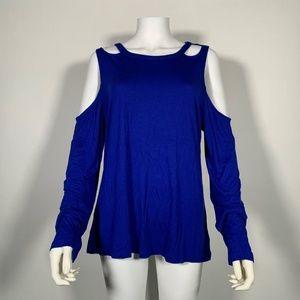 INC International Concepts Top Blouse Cold Blue XL